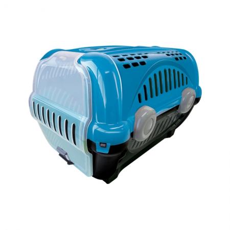 Caixa De Transporte Luxo Furacaopet N1 Azul