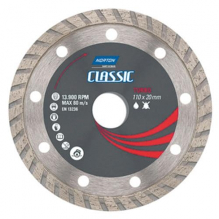 Disco Corte Turbo 110x20mm - Norton