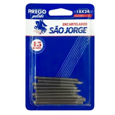 Prego Polido 18x24 S/Cabeça - 50g - São Jorge Emb. c/ 10