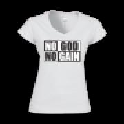 Camisa Feminina NO GOD NO GAIN - Gola V