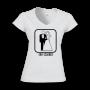 Camisa Feminina Eu Creio Branca- Gola V