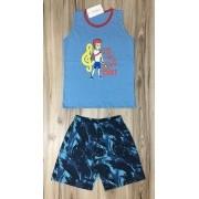 Pijama Infantil Regata Masculino- Rei Davi Teens