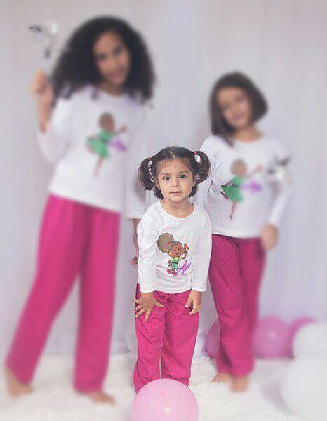 Pijama Ana - modelo bebê - inverno   - Bençãos do Céu