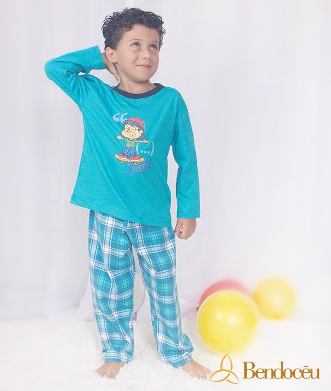 Pijama Daniel - Modelo bebê -  inverno   - Bençãos do Céu