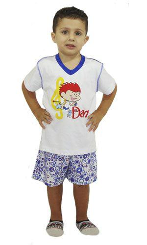 Pijama Davi - Modelo Azul  - Bençãos do Céu