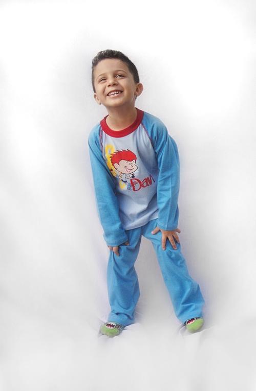 Pijama Davi - Modelo Bebê  - Bençãos do Céu