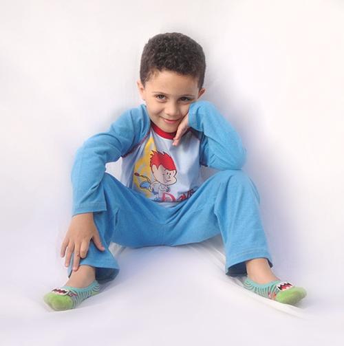 Pijama Davi - Modelo Bebê -  inverno   - Bençãos do Céu