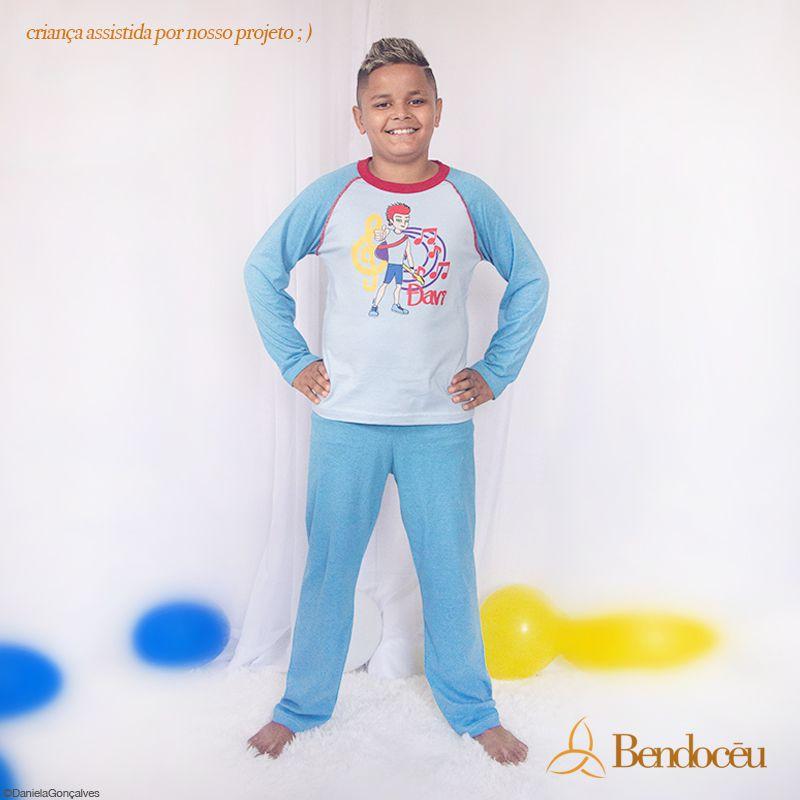 Pijama Davi - Modelo azul - Inverno