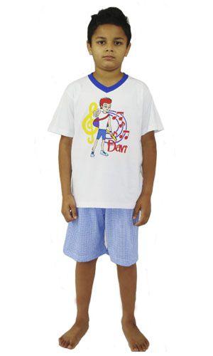 Pijama Davi- Modelo Jovem - Xadrez verão