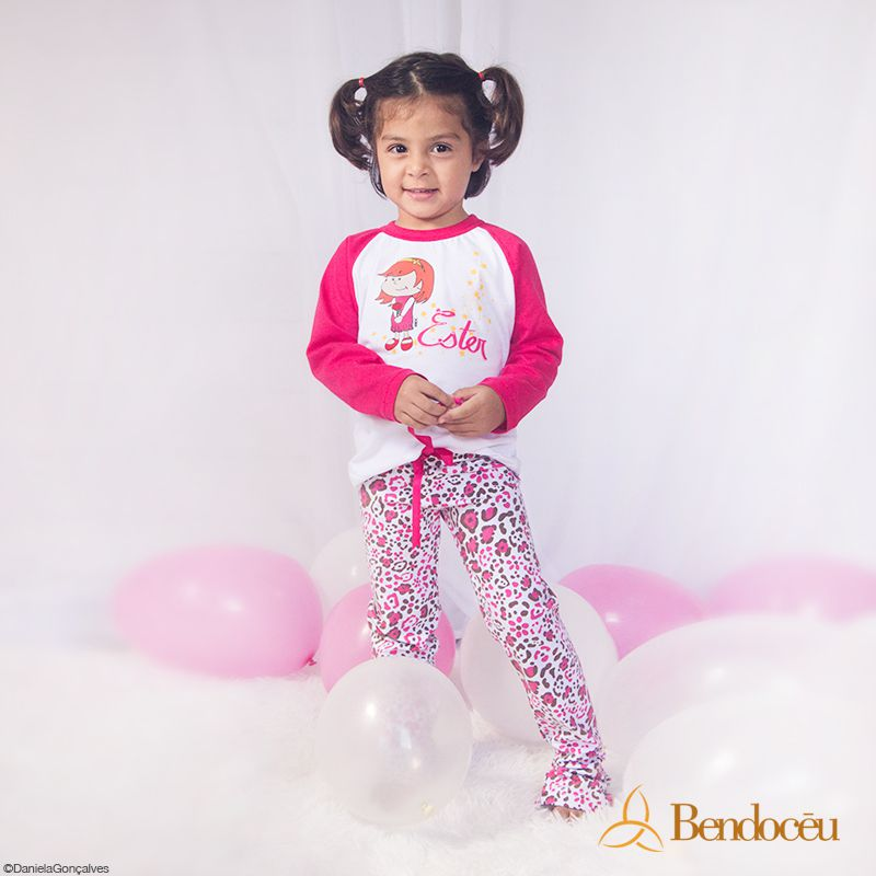Pijama Ester - Modelo Bebê