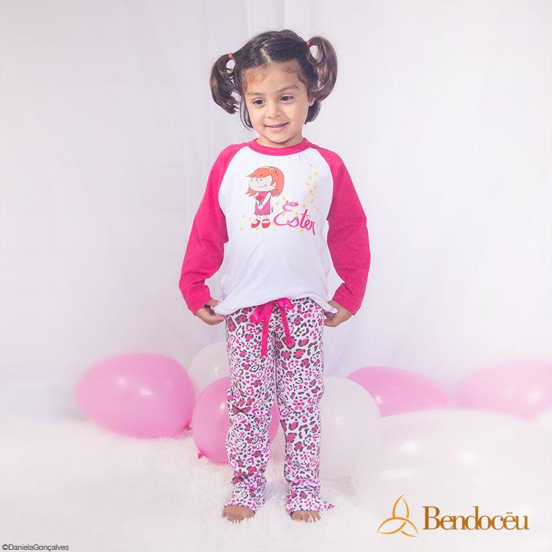 Pijama Ester - Modelo Bebê  - Bençãos do Céu