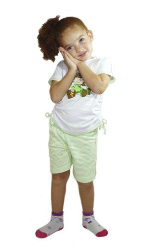 Pijama Rute - Modelo verde - verão  - Bençãos do Céu