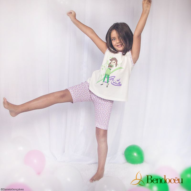 Pijama Rute - Modelo Violeta  - Bençãos do Céu