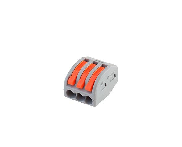 Conector de emenda e derivação 0,5 4mm, 3P, 32A, cor cinza, (pacote 5un.)