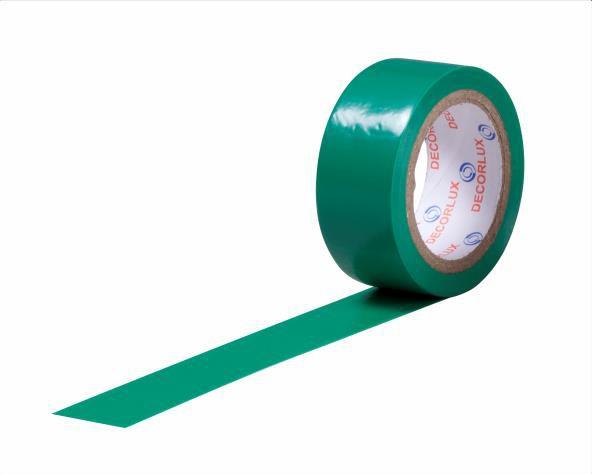 Fita isolante 18mmx5m cor verde, tubo (10un.)