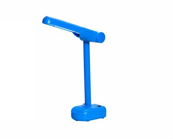 Luminária de mesa pelicano para fluor Pl 9W 220V, cor azul, (1un.)