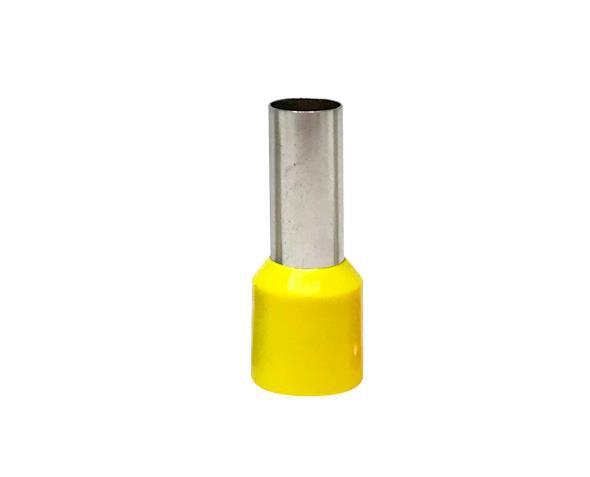 Terminal  ilhós simples tubular 25,0mm 89A, cor amarelo, (pacote 50un.)