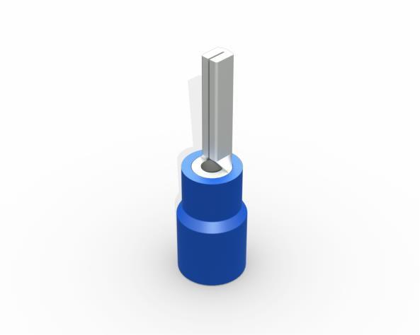 Terminal pino pré isolado20,0mm 1,5 2,5mm 27A, cor azul, (pacote 50un.)