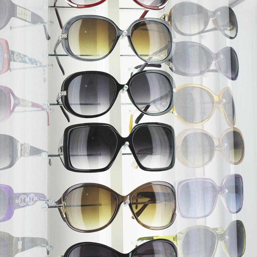 134p - Expositor De Chão Para 54 Óculos Personalizado