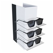 238 - Expositor De Vitrine Para 3 Óculos