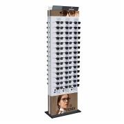 277p - Expositor De Chão Com Trava Para 84 Óculos Personalizado