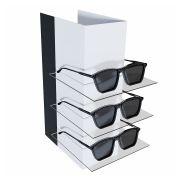 Me238 - Expositor De Vitrine Para 3 Óculos