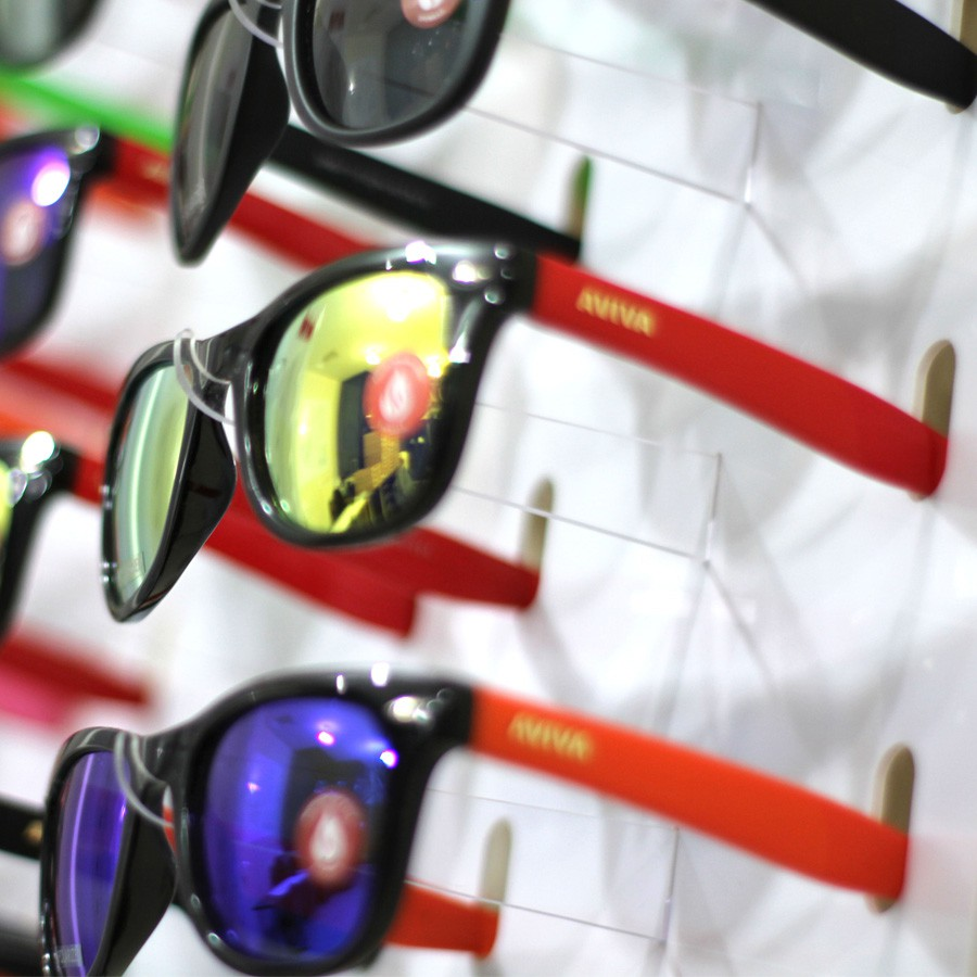 213p - Expositor De Chão Para 126 Óculos Personalizado