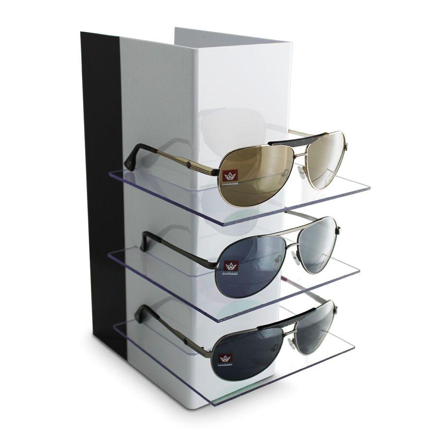 Kit140s - Expositor Para 3 Óculos Personalizado - Kit 20/un