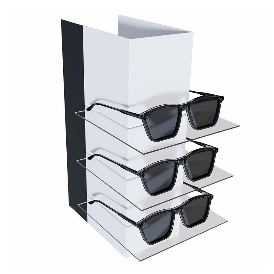 Kit238 - Expositor Para 3 Óculos - Kit 10/un