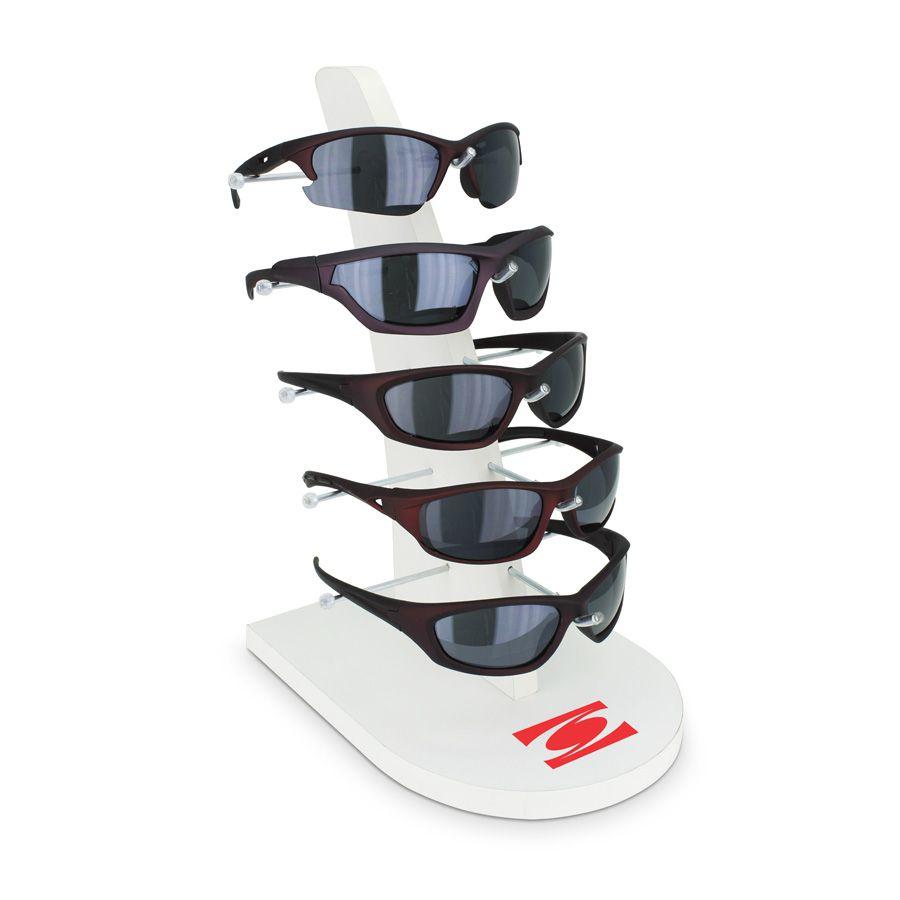 Me025 - Expositor De Vitrine Para 5 Óculos