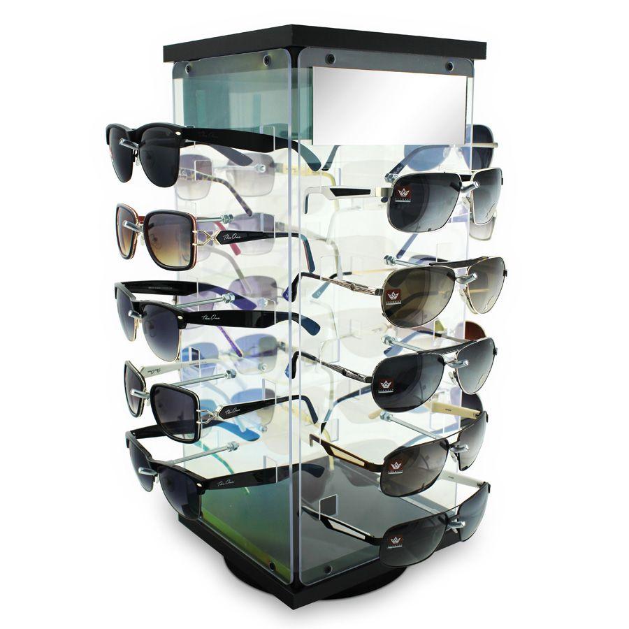Me099 - Expositor De Balcão Giratório Para 20 Óculos