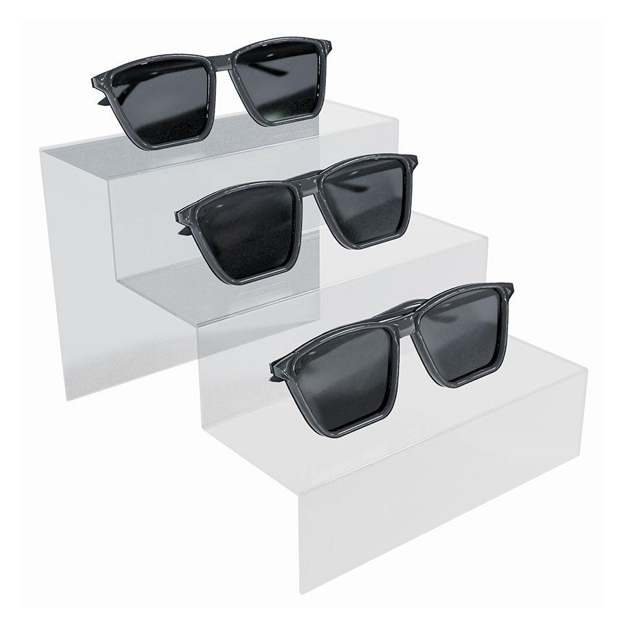 Me261 - Expositor De Vitrine Para 3 Óculos