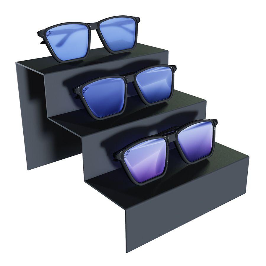 Me262 - Expositor De Vitrine Para 3 Óculos