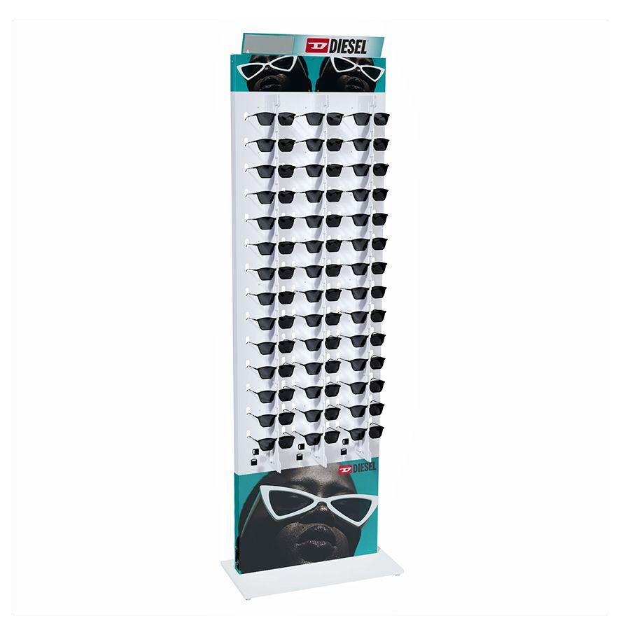 Me270s - Expositor De Chão Com Trava Para 42 Óculos Personalizado