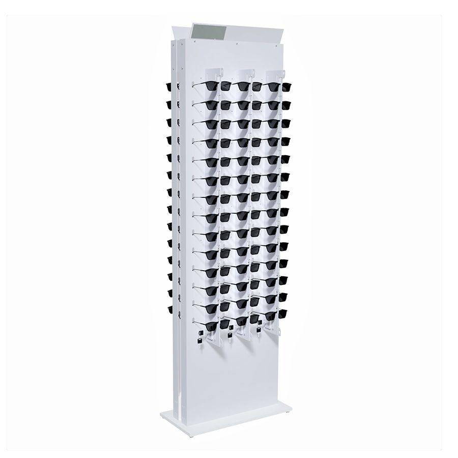 Me271 - Expositor De Chão Com Trava Para 84 Óculos