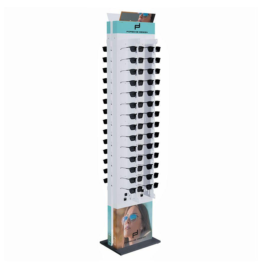 Me275s - Expositor De Chão Com Trava Para 56 Óculos Personalizado