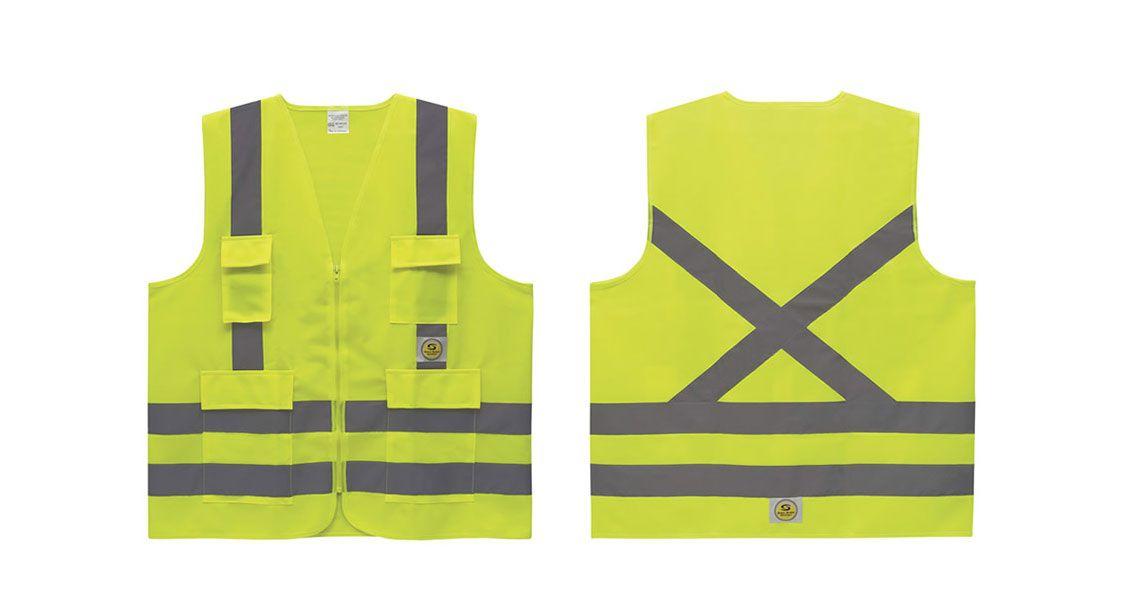 ec0f10459bdef Colete Refletivo 4 Bolsos Amarelo Super Safety - Protektus EPIs