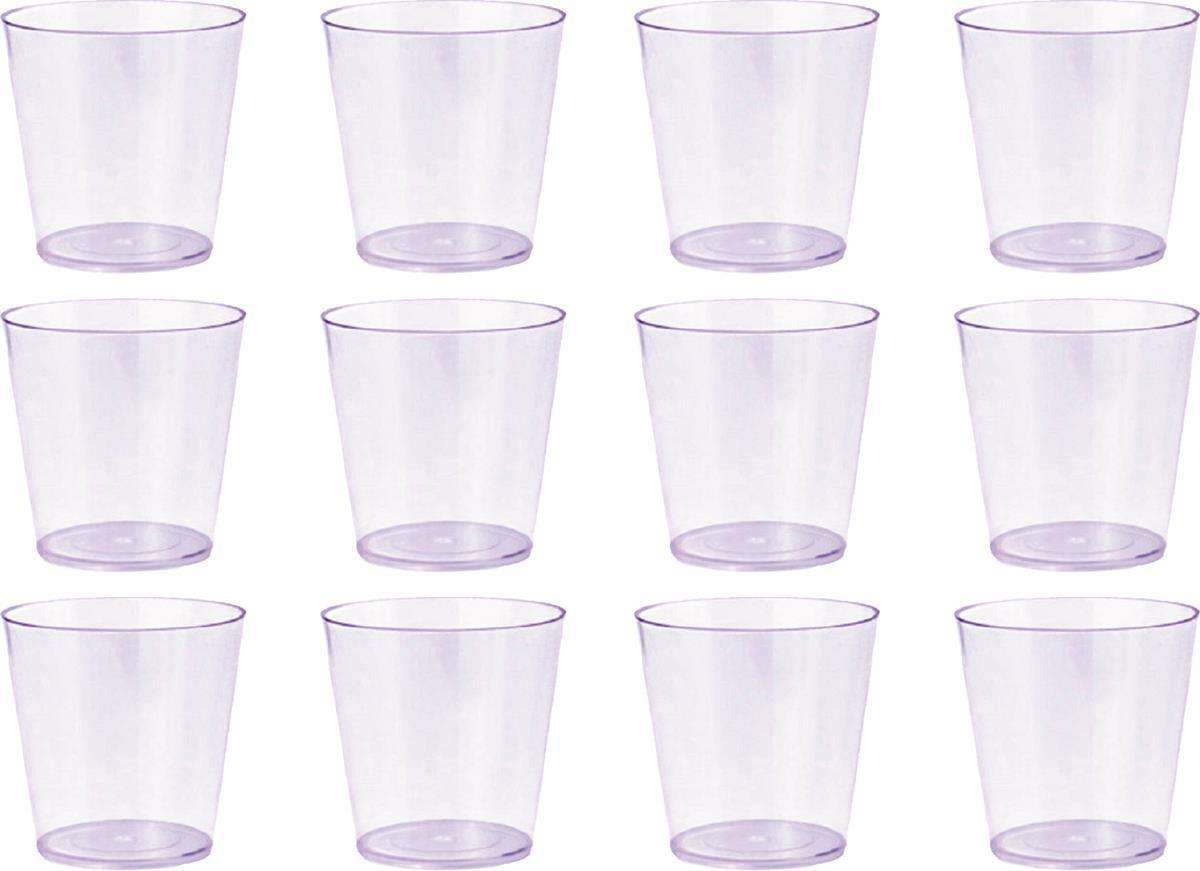 100 copinhos de acrílico transparente de 25 ml