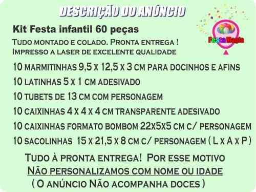 Kit Festa Infantil Hotel Transilvânia 60 Peças