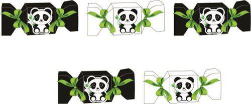 Kit Festa Infantil Panda Preto E Branco 60 Peças