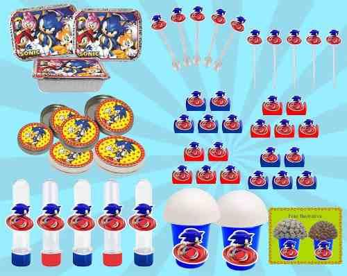 Kit Festa Infantil Sonic 352 Peças