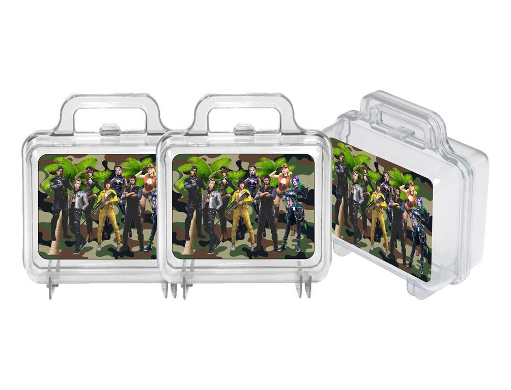 10 maletas de acrílico Free Fire