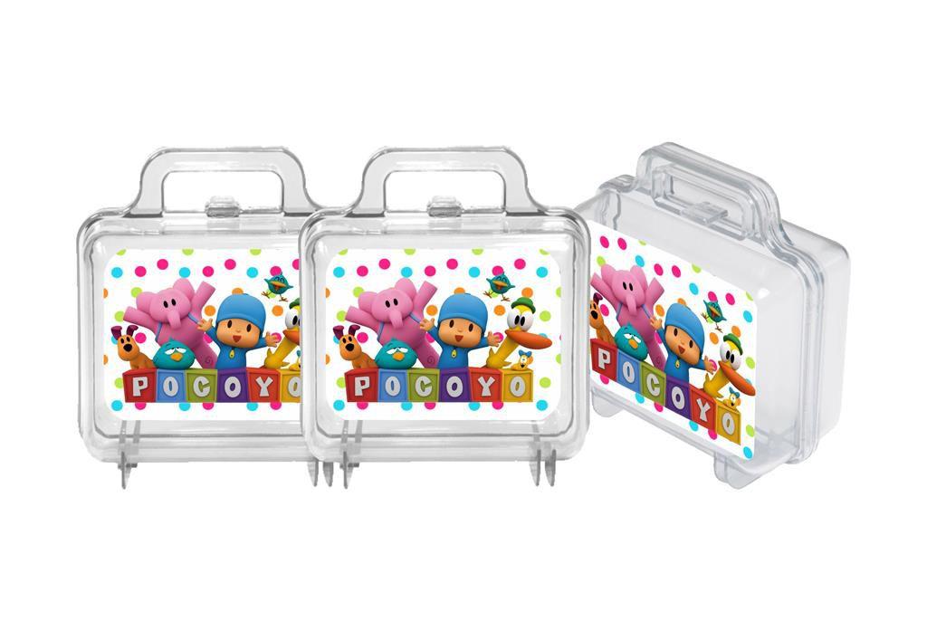10 maletas de acrílico Pocoyo