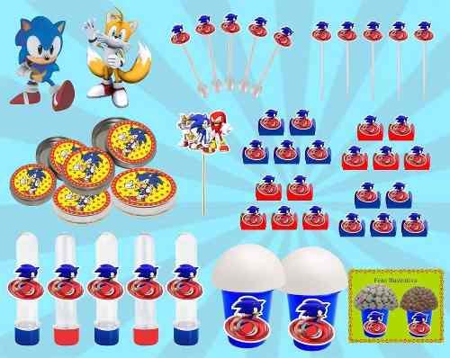 Kit Festa Infantil Sonic 143 Peças