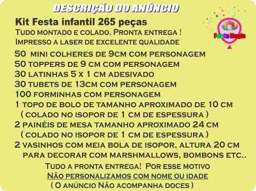 Kit Festa Infantil Detetives Do Prédio Azul (dpa) 265 Peças