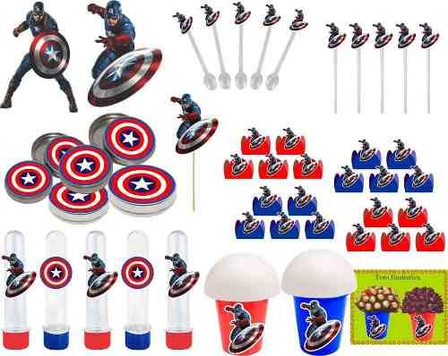 Kit Decorativo Capitão América 143 Peças