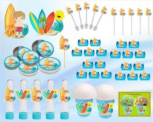 Kit Festa Infantil Surf 265 Peças