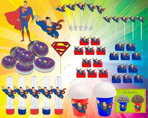 Kit Festa Infantil Super Man 99 Peças