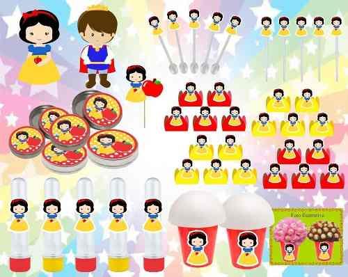 Kit Festa Infantil Branca De Neve Baby (cute) 265 Peças