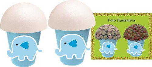 Kit Festa Infantil Elefantinho Azul 160 Peças